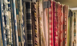 fabrics lined up